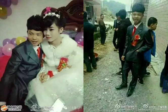 Casamento causa polêmica após internautas afirmarem que noivos têm 13 anos de idade