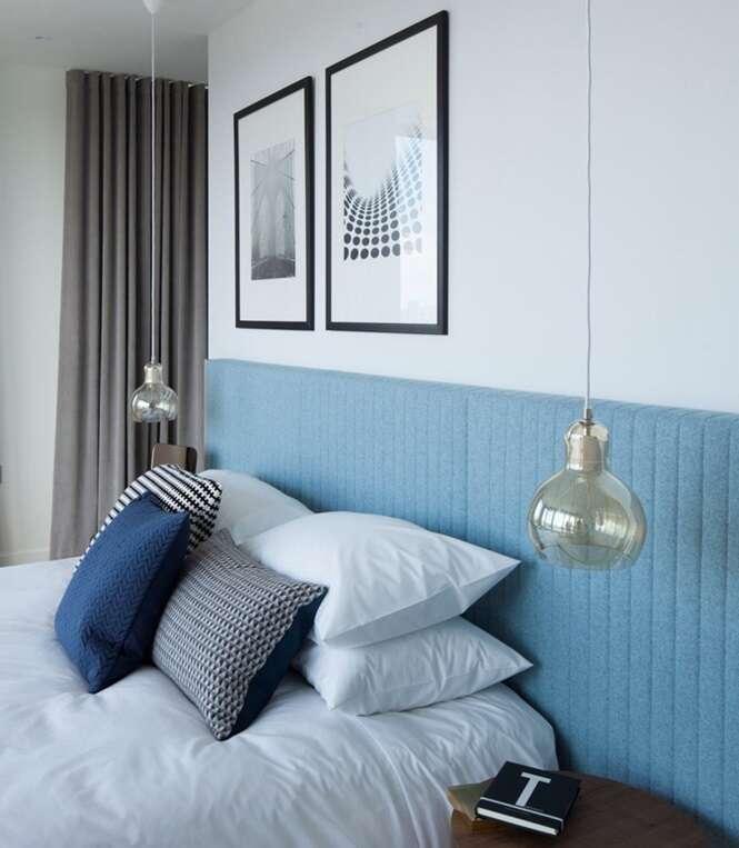 Exemplos originais de iluminação para a cabeceira da cama