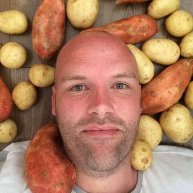 Homem promete que vai passar todo o ano de 2016 comendo somente batatas
