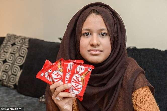 Estudante tenta conseguir ganhar Kitkats para o resto da vida