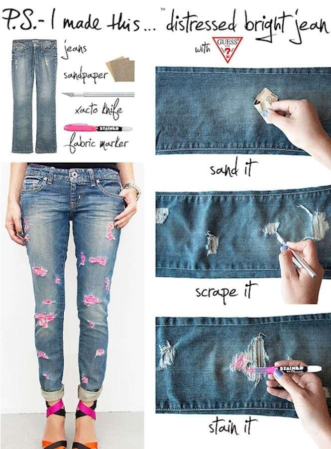 Ideias para dar nova vida a seus jeans velhos