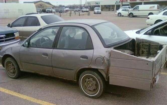 Carros que sofreram modificações bizarras