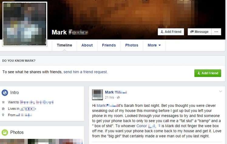 Conversa no Facebook