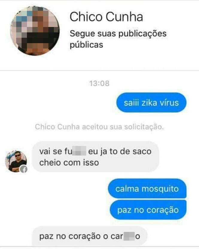 Anônimo chamado Chico Cunha se torna celebridade na internet ao ser comparado à doença chikungunya