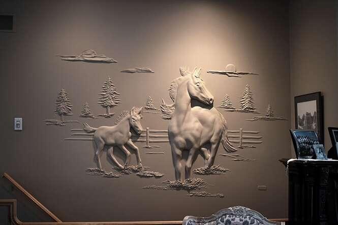 Artista cria quadros incríveis em 3D usando trigo e cevada