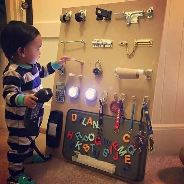 Pai cria solução incrível para distrair seu filho