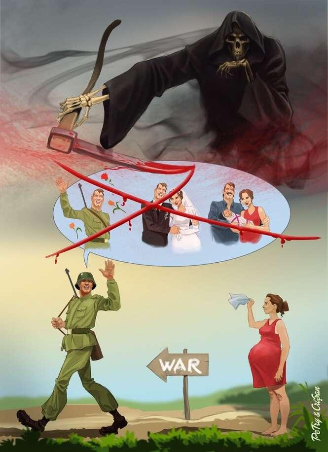 Cartunistas romenos divulgam arte para criticar a sociedade moderna