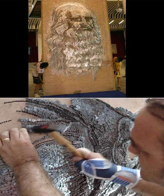 Mosaicos incríveis feitos com materiais nada convencionais