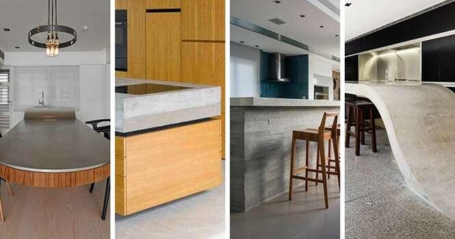 Exemplos interessantes de bancadas de cozinha