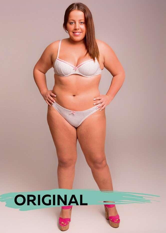 Modelo tem foto editada em Photoshop para mostrar os padrões de beleza pelo mundo a fora.
