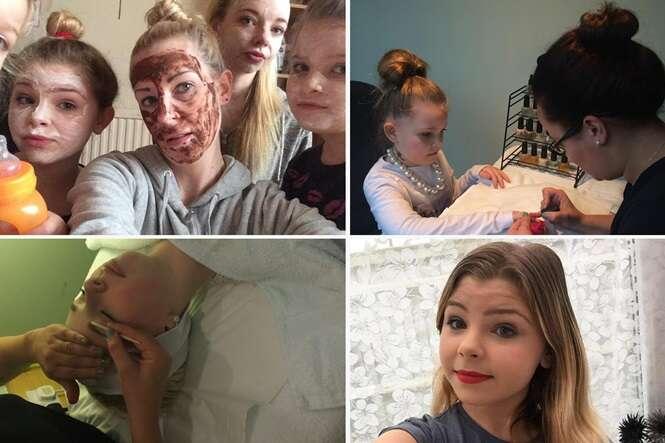 Mãe gasta fortuna para que ela e suas filhas pequenas recebam tratamento de beleza