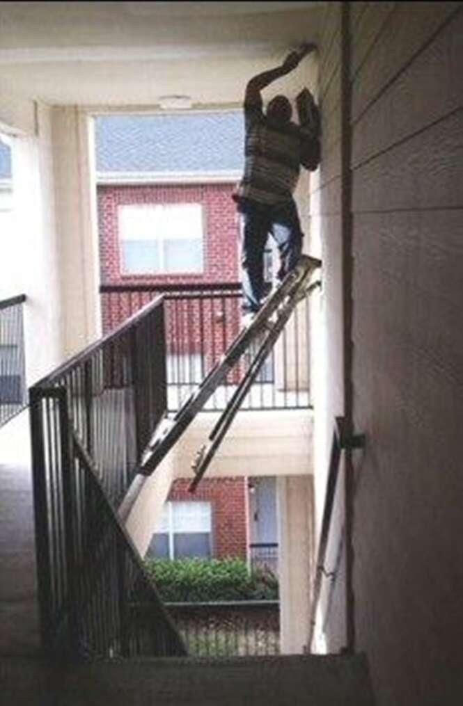 Pessoas que não se preocupam com a própria segurança