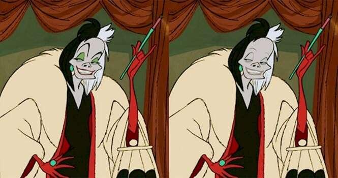 Vilões da Disney com e sem maquiagem