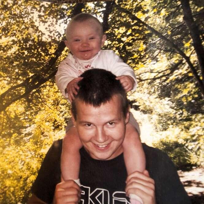 Adam com a filha Nevaeh