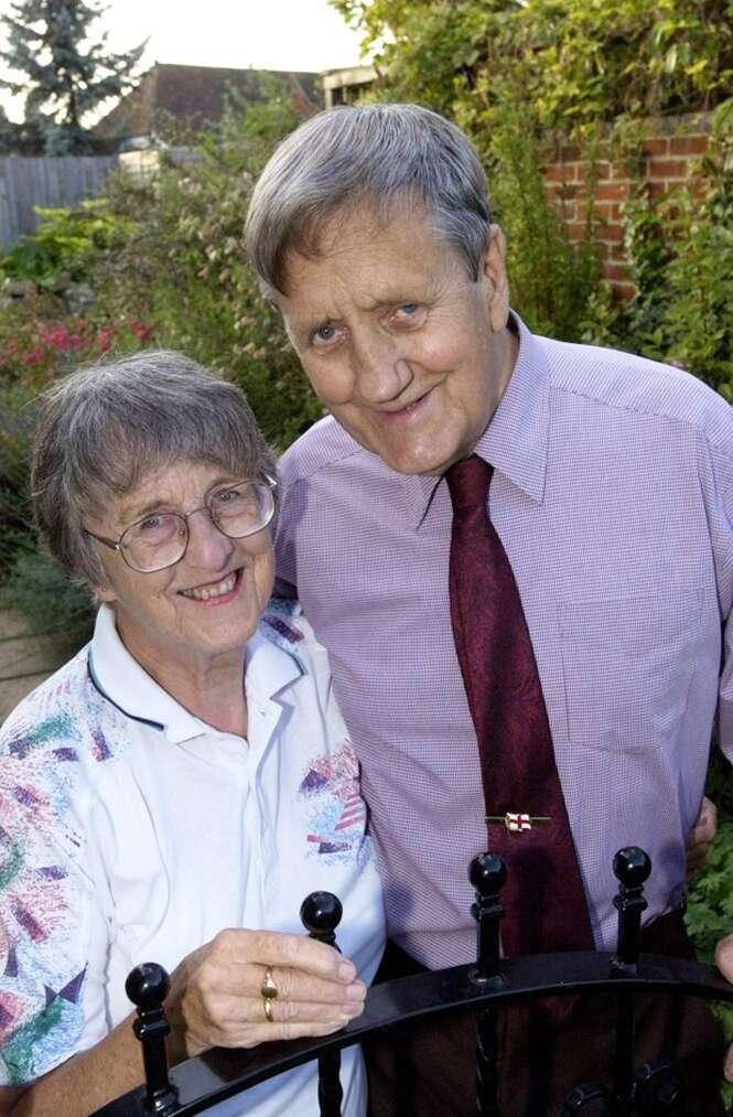 Edna Thompson e seu falecido marido Fred. Foto: SWNS