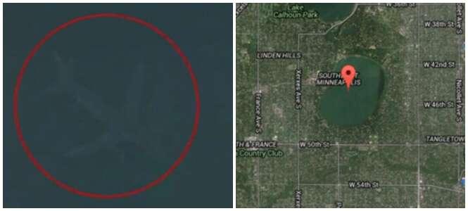 Mistério de avião no fundo de lago flagrado pelo Google Earth é desvendado