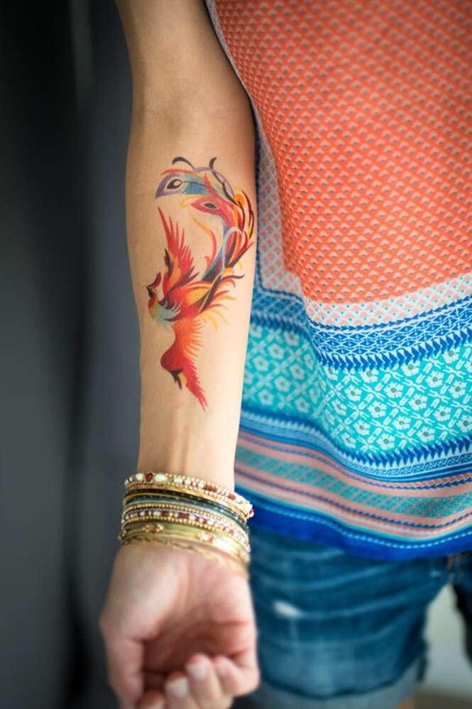Tatuagens temporárias melhores que as tatuagens permanentes