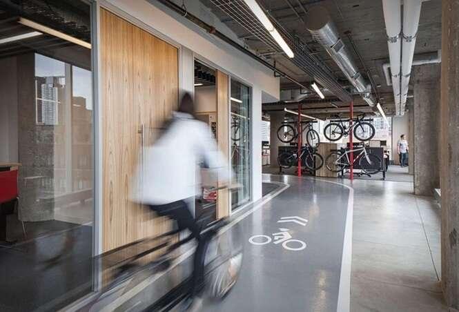 Gosta de bicicleta? Esse escritório vai ser seu sonho de trabalho