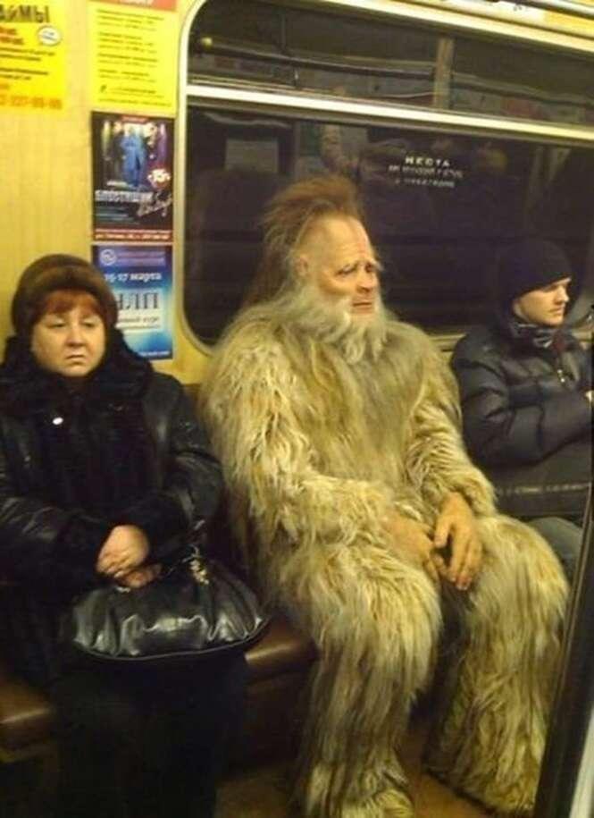 Cenas estranhas vistas em metrôs
