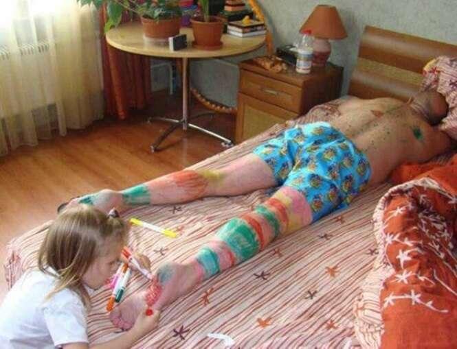 Crianças que adoram uma bagunça
