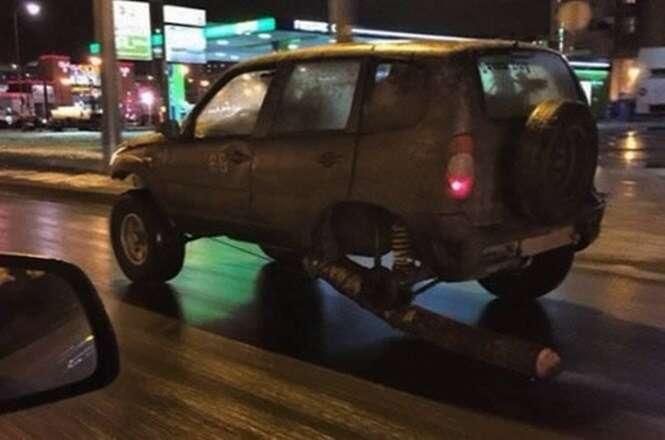 Gambiarras para resolver problemas com pneu furado