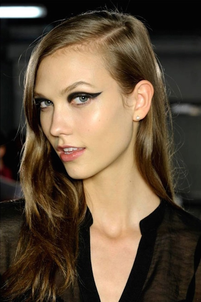 Exemplos diferentes de maquiagem para os olhos