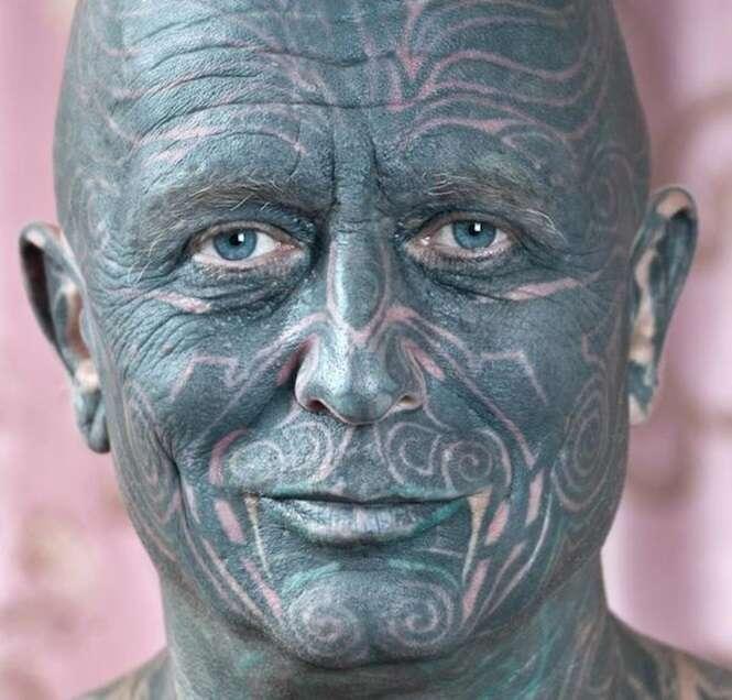 Tatuagens inacreditáveis no rosto