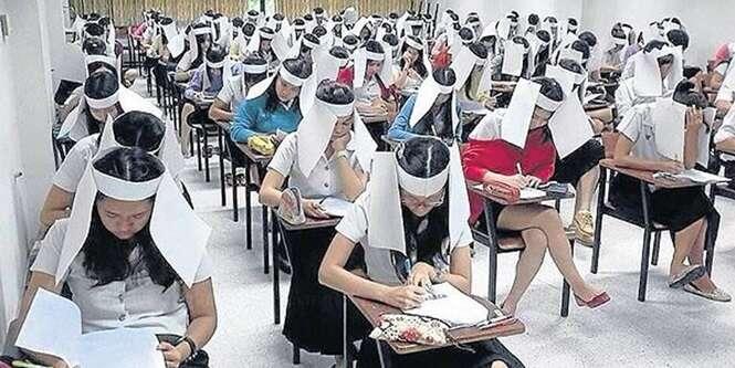 Formas curiosas para evitar cola durante as provas escolares