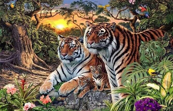 Você consegue encontrar todos os 16 tigres nesta imagem?
