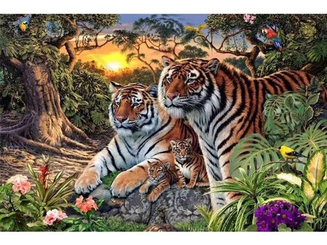 Acredite, existem 16 tigres nesta imagem