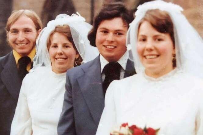 Gêmeas que conheceram seus maridos no mesmo dia e se casaram também no mesmo dia, os enterram no mesmo funeral
