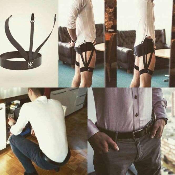 Cinta-liga masculina promete ser a solução para manter a camisa sempre arrumada