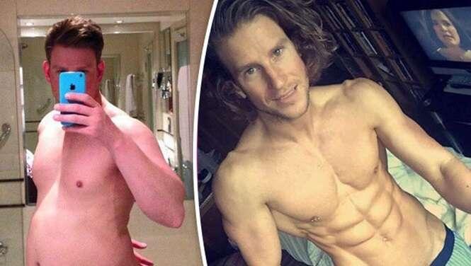 Homem acima do peso sofre transformação incrível e se torna fisiculturista
