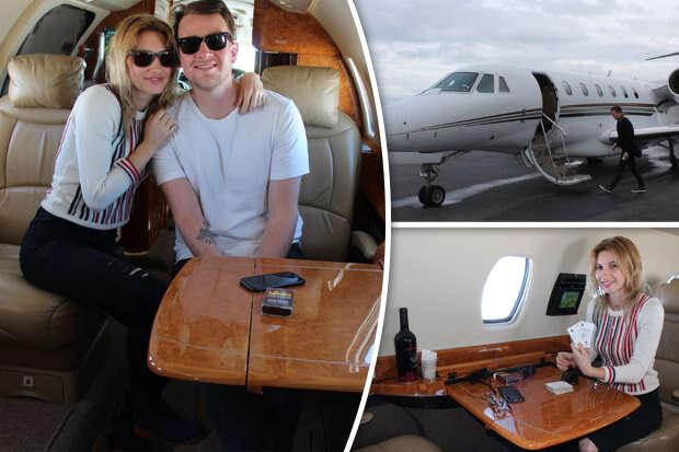 Casal voa de graça em avião particular de R$ 86 milhões