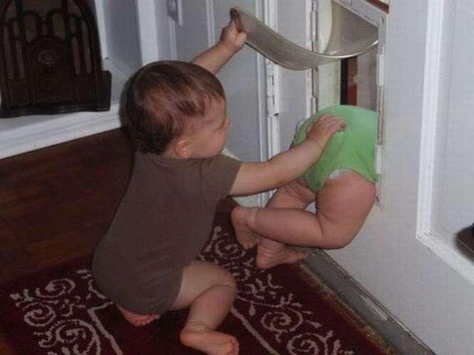 Fotos divertidas envolvendo crianças