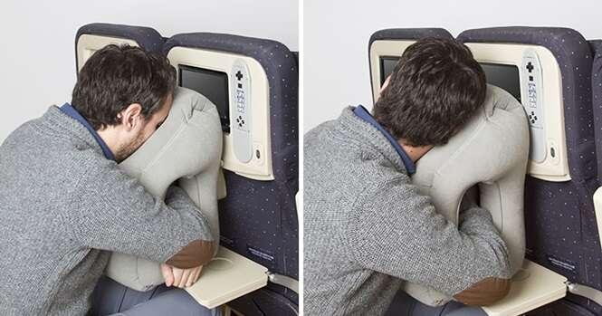 Travesseiro curioso ajuda você a dormir em qualquer lugar