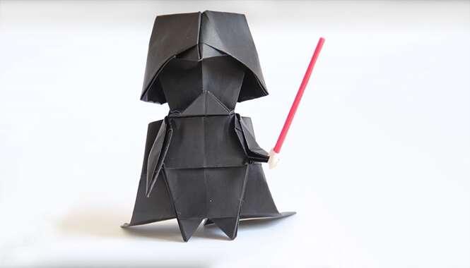 Como fazer origami do Darth Vader