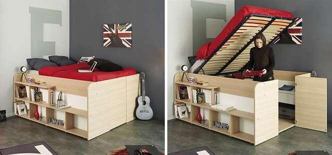 Precisa de espaço no quarto? Esta cama pode ser a solução