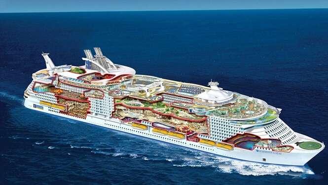 Maior navio do mundo para cruzeiros é tão grande que passageiros terão de usar GPS