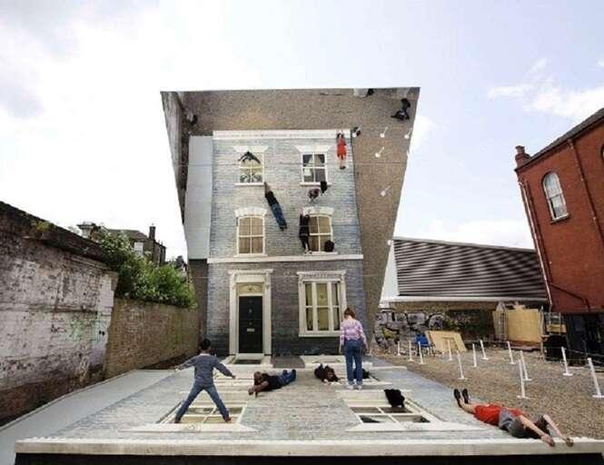 Arquiteturas incríveis com ilusão de ótica