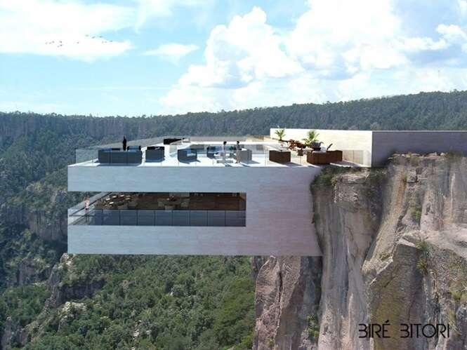 Restaurante construído em penhasco se torna atração no México