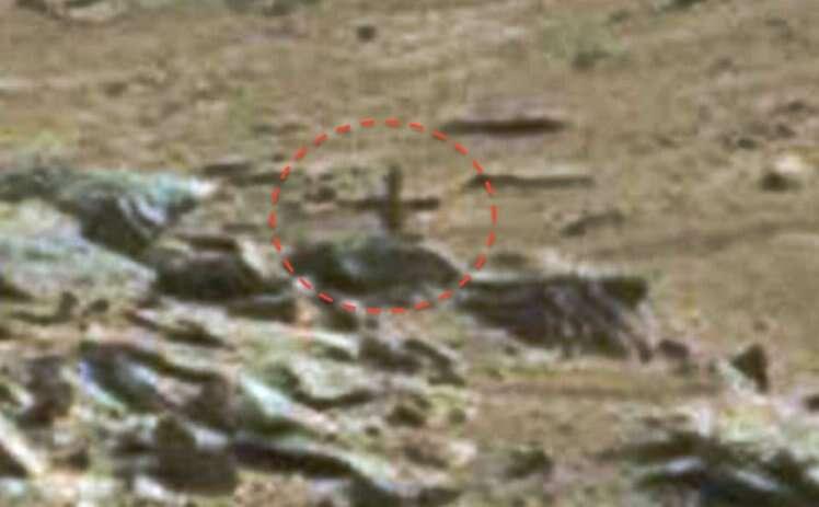 Sonda da NASA revela crucifixo em Marte