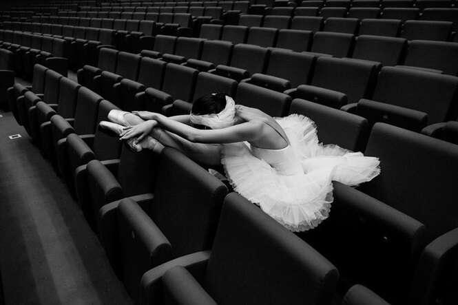 Fotos registrando a beleza escondida do balé