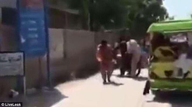 Vídeo chocante mostra momento em que homem se torna bola de fogo