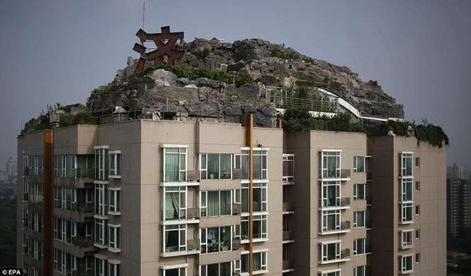 Coisas incríveis feitas no topo de prédios