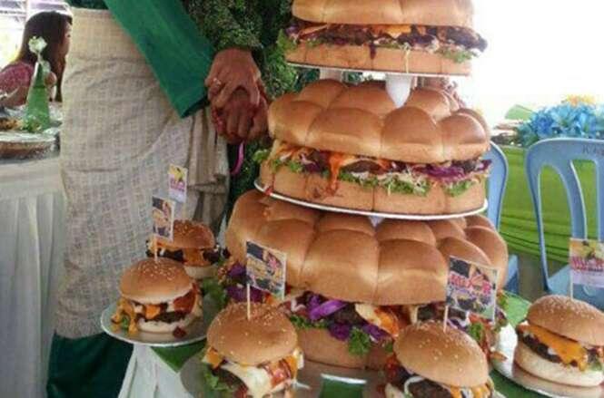 Alternativas estranhas e curiosas para o bolo de casamento