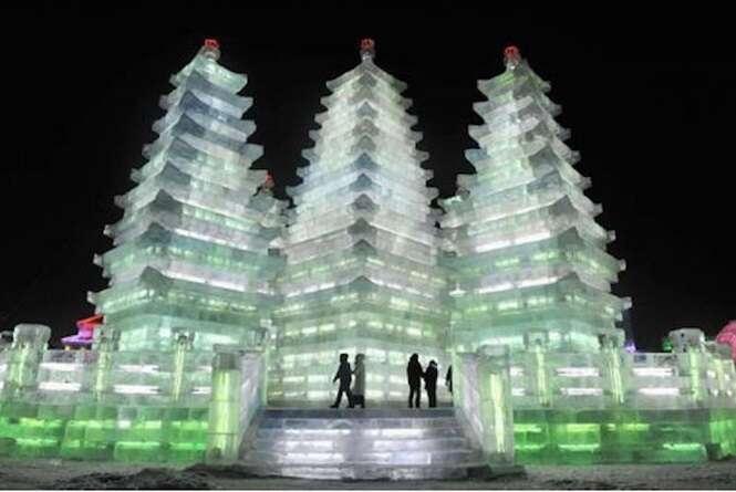 Incríveis esculturas feitas de gelo
