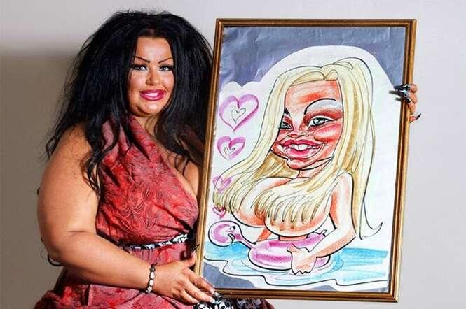 Mulher gasta fortuna para ficar parecida com sua própria caricatura