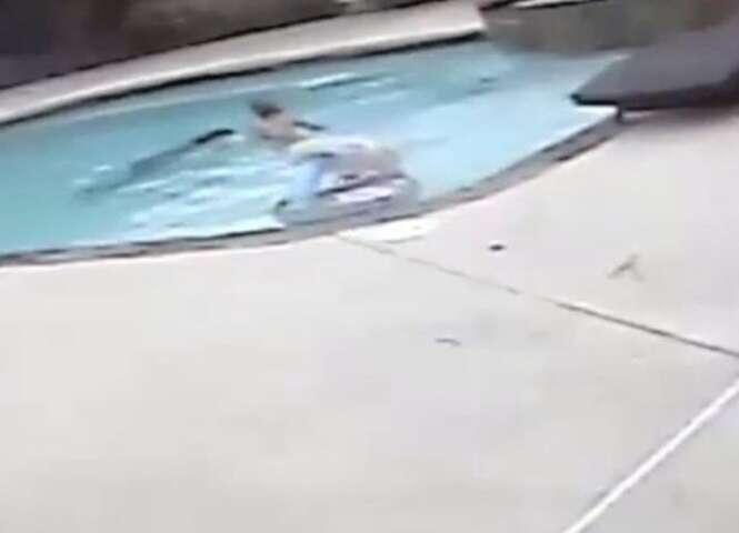 Menina de 5 anos salva mãe que se afogava em piscina