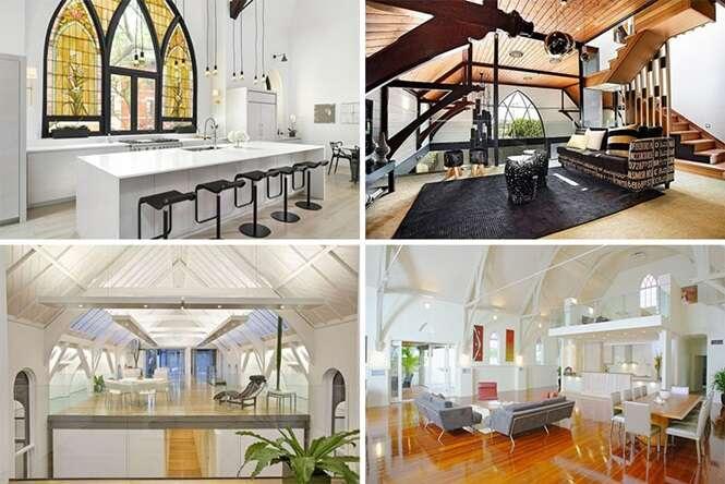 Igrejas que foram transformadas em casas luxuosas